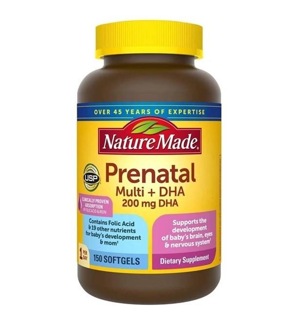 Viên uống Nature Made Prenatal Multi +DHA - 430.000đ