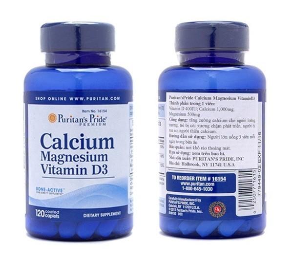 Viên uống Calcium 600 + Vitamin D3 của Puritan's Pride - 272.000đ