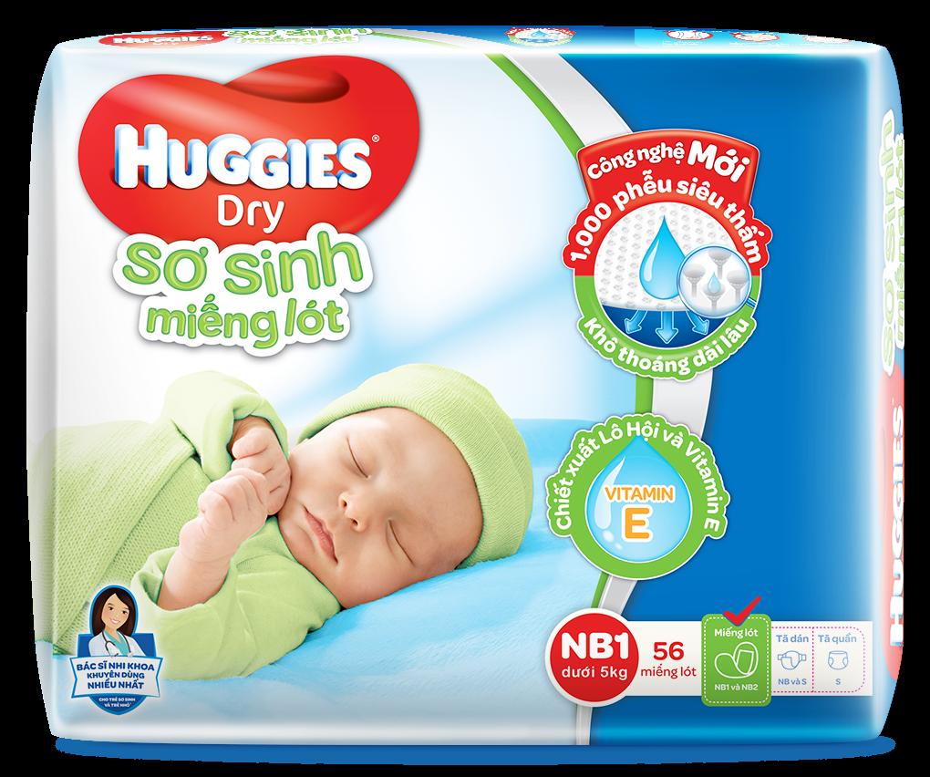 Miếng Lót Sơ Sinh Huggies Dry Newborn 1 - 89.000đ
