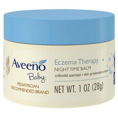 In Stock🔥 28g | Aveeno Baby Eczema Therapy Nighttime Balm | Skin Protectant Cream, 1 Oz