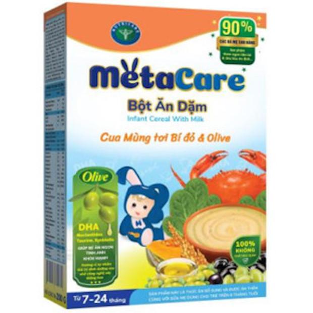 Bột ăn dặm Nutricare Metacare Cua mồng tơi bí đỏ olive - 59.000đ