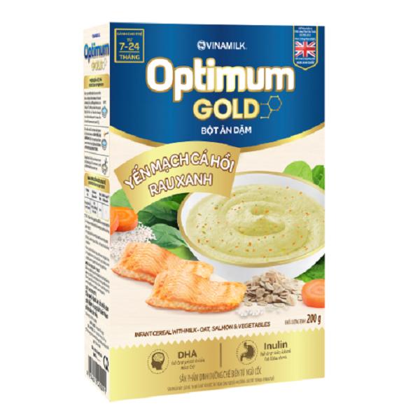 Bột ăn dặm Optimum Gold yến mạch cá hồi rau xanh - 102.000đ