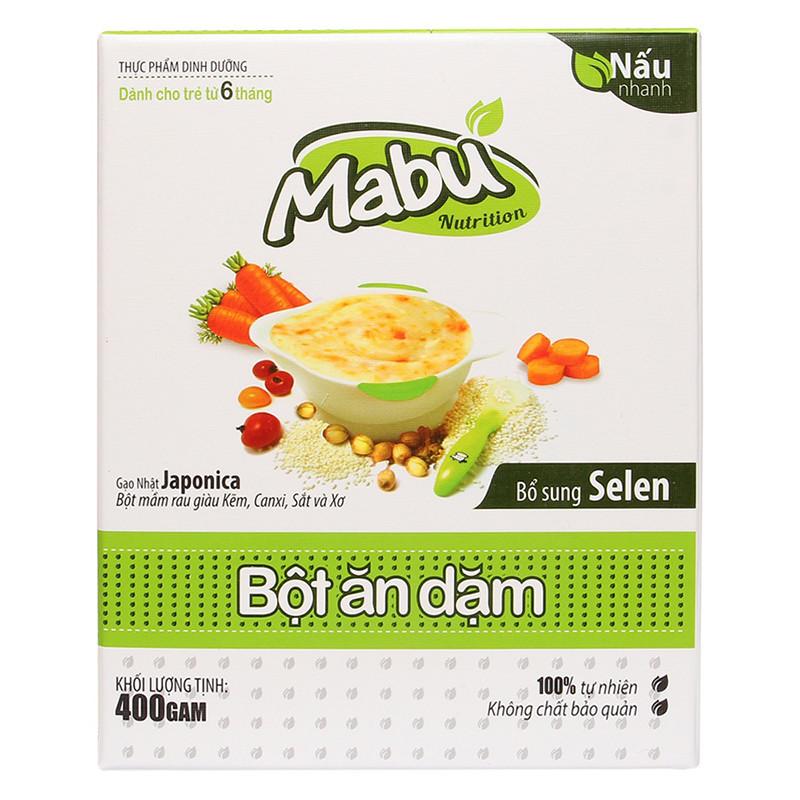 Bột ăn dặm mặn cho bé 6 tháng thương hiệu Mabu - 69.000đ