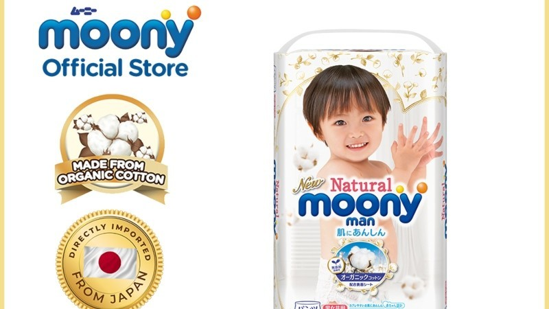 Moony Natural Baby Diaper Pants Large