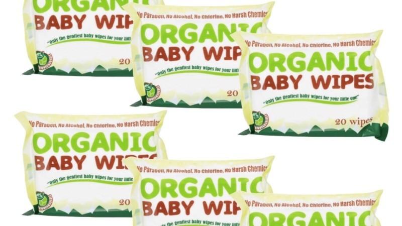 Organic Baby Wipes 20s (Bundle of 6)