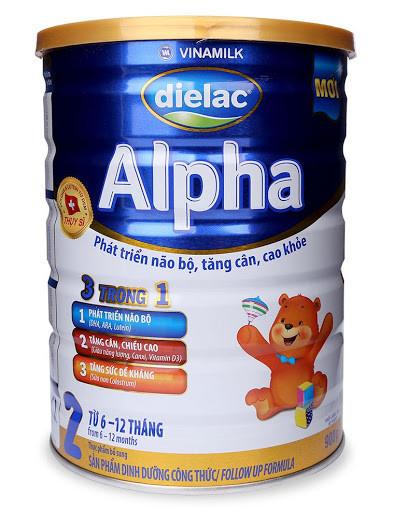 Sữa Vinamilk Dielac Alpha tăng chiều cao cho trẻ