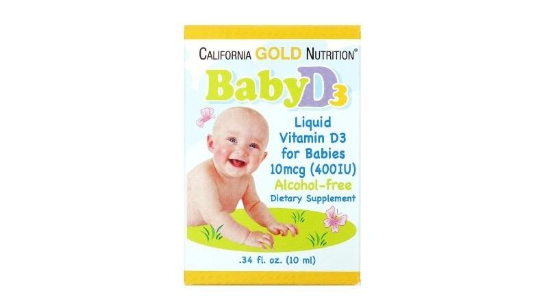 California Gold Nutrition, Baby Vitamin D3 Drops