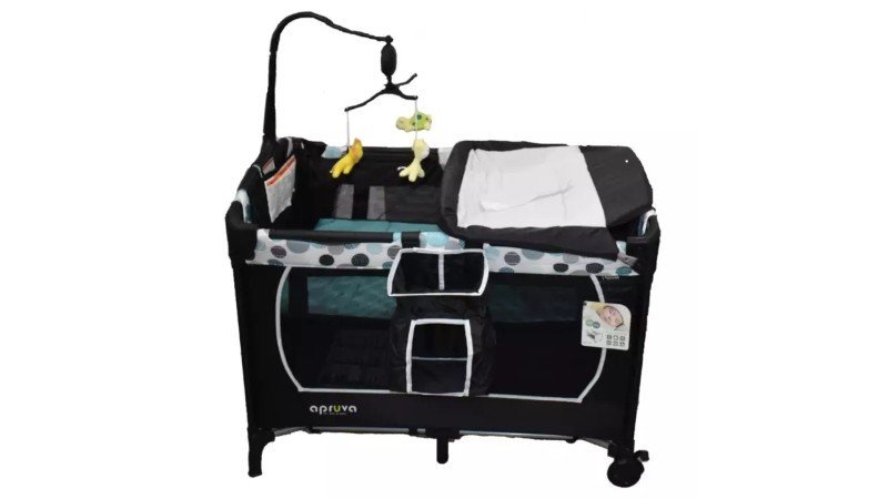 Apruva PP-800 Pack and Play Playpen with Crib Mobile (Blue)