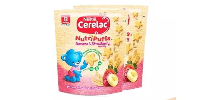 CERELAC Nutripuffs Strawberry Infant Snack 50g