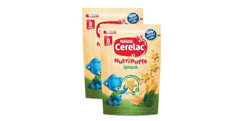 CERELAC Nutripuffs Spinach Infant Snack 25g