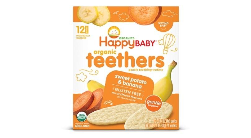 Happy Baby Organic Teethers Sweet Potato & Banana 48g