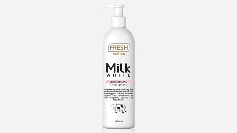 Fresh Skinlab Milk White Glutathione Body Lotion 480ml