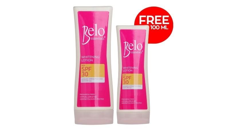 Belo Essentials Whitening Lotion W/ SPF30 200mL + FREE 100mL