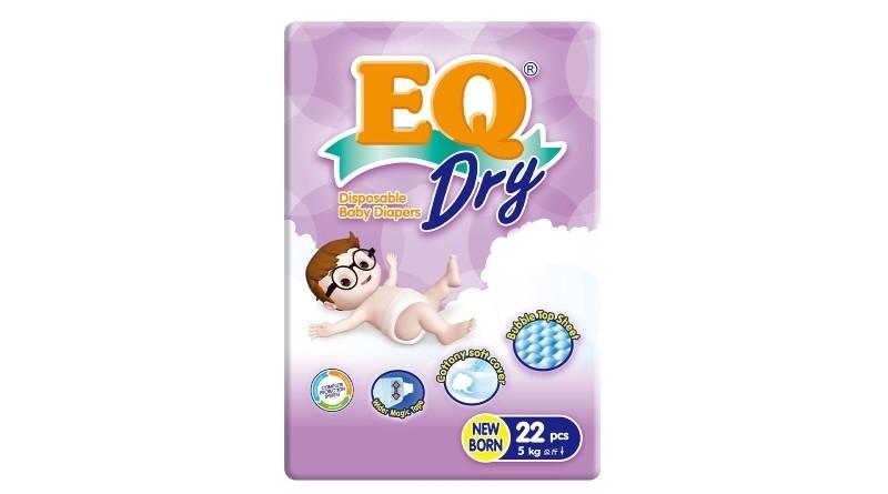 EQ Dry Travel Pack Newborn 22 pcs x 1 pack