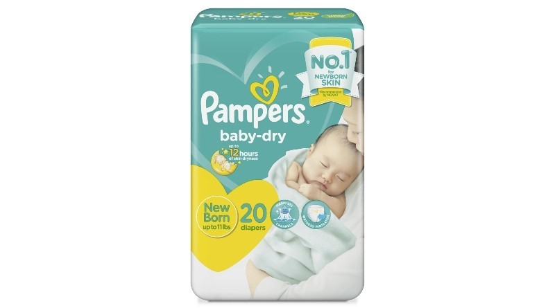 Pampers Baby Dry Taped Economy New Born 40 pcs