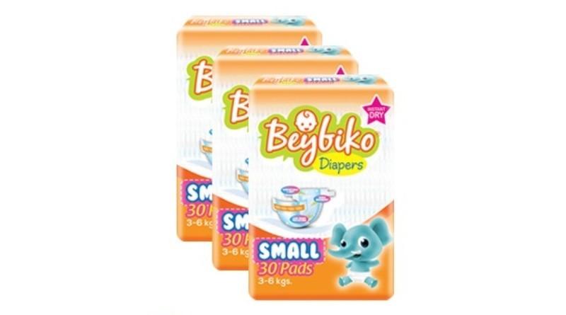 Beybiko Diapers Small 30 pcs x 3 packs (90 pcs)