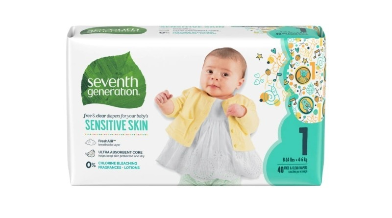 Seventh Generation Free & Clear Diapers Baby Diapers
