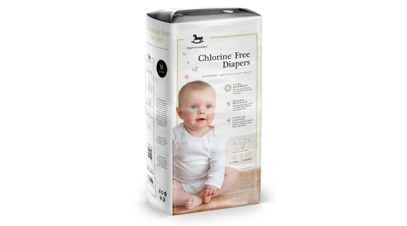 Applecrumby Chlorine-free Tape Baby Diapers