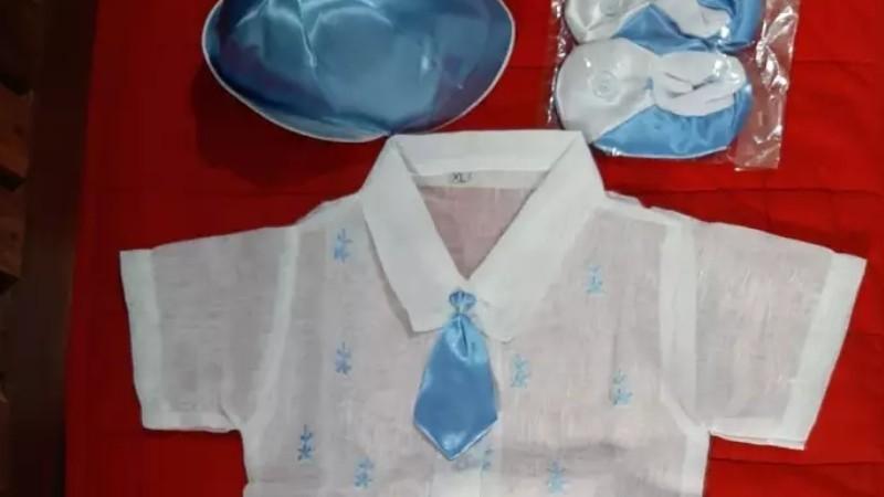 Baptismal dress for baby boy