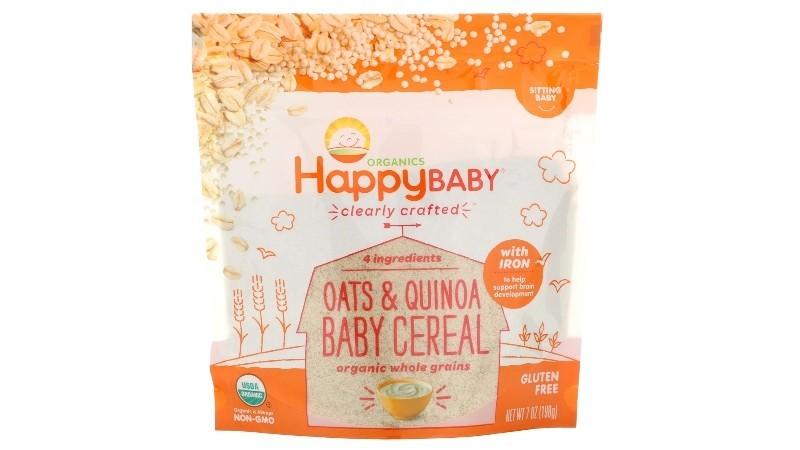Happy Baby Organic Oats & Quinoa Baby Cereal 198g