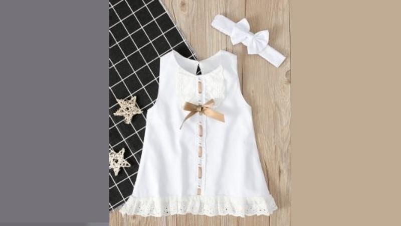 Princess Baby Girl Baptismal Dress