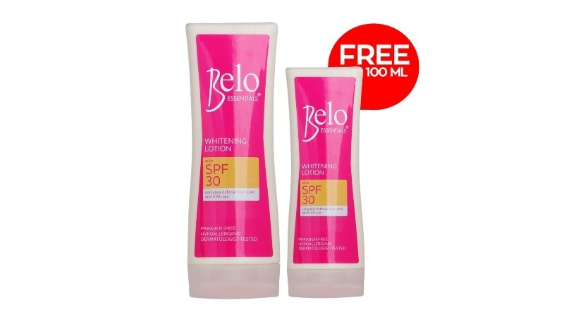 Belo Essentials Whitening Lotion with SPF30 200mL + FREE 100mL