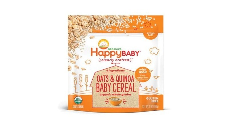 Happy Baby Organic Clearly Crafted Oats & Quinoa Baby Cereal