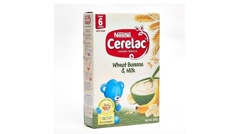 Nestle Cerelac Infant Cereals Wheat Banana & Milk 250g