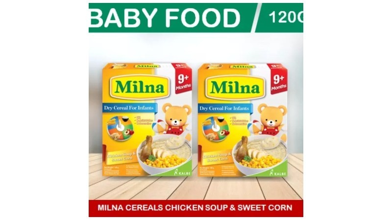 Milna Baby Cereals Chicken Soup and Sweetcorn 120g (2x120g)