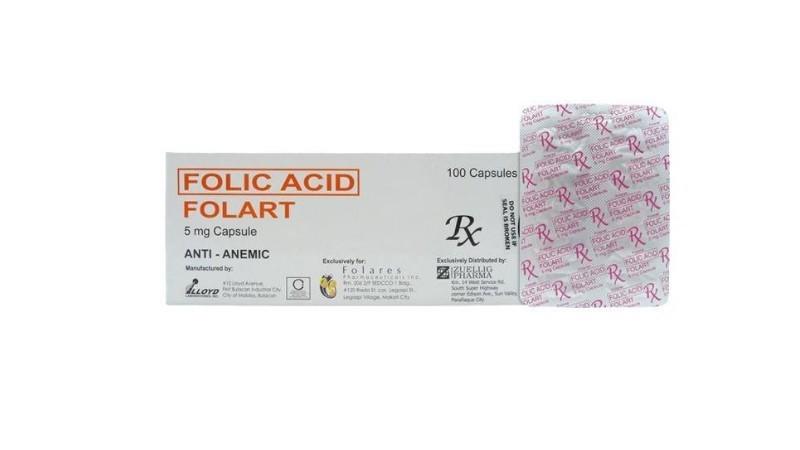 Folart Folic Acid 5mg 1 capsule