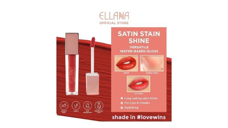 ELLANA SATIN STAIN SHINE HYDRATING LIP AND CHEEK SERUM STAIN