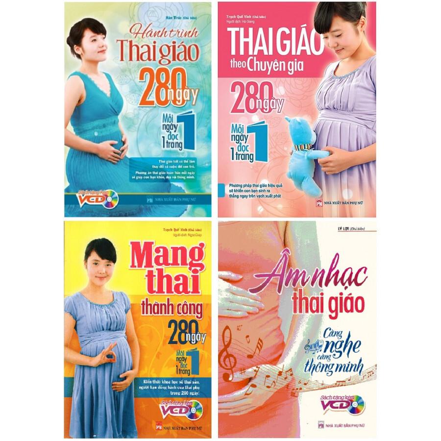Combo 4 cuốn sách thai giáo cho mẹ