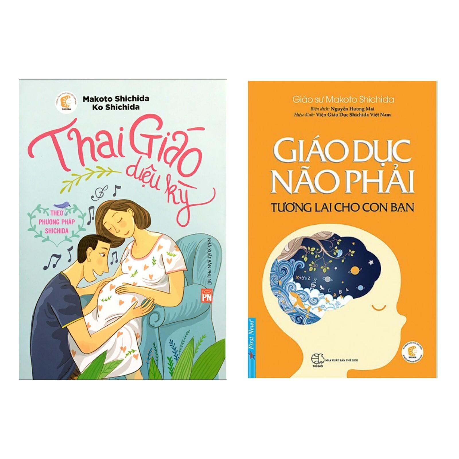 Combo Sổ Tay Làm Mẹ Hoàn Hảo: Thai Giáo Diệu Kỳ Theo Phương Pháp Shichida + Giáo Dục Não Phải - Tương Lai Cho Con Bạn