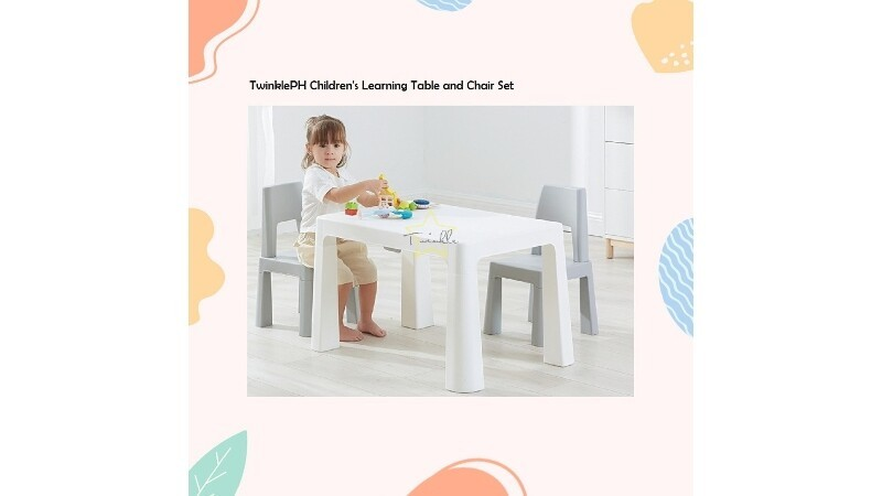 TWINKLE PH MULTIFUNCTIONAL CHILDREN'S LEARNING TABLE AND CHAIR SET