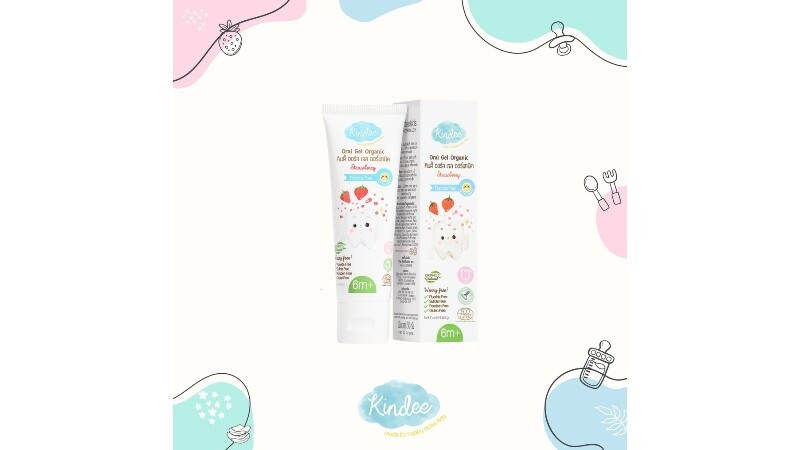 Kindee Organic Oral Gel (Toothpaste) for infant/ babies 6m and up (50g)