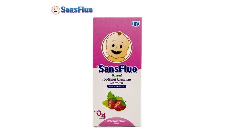 SANFLUO NATURAL TOOTHGEL CLEANSER WITH XYLITOL (STRAWBERRY)