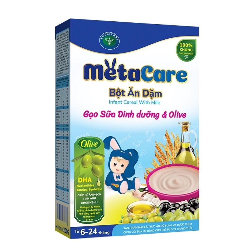 Bột ăn dặm Nutricare Metacare Gạo sữa dinh dưỡng & olive Special