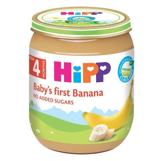 Dinh dưỡng đóng lọ ăn dặm Chuối ăn dặm khởi đầu HiPP Organic