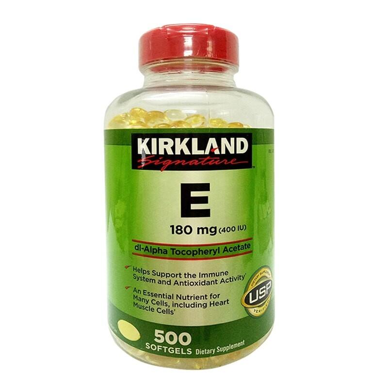 Thực phẩm bổ sung Kirkland Signature Vitamin E 400 I.U