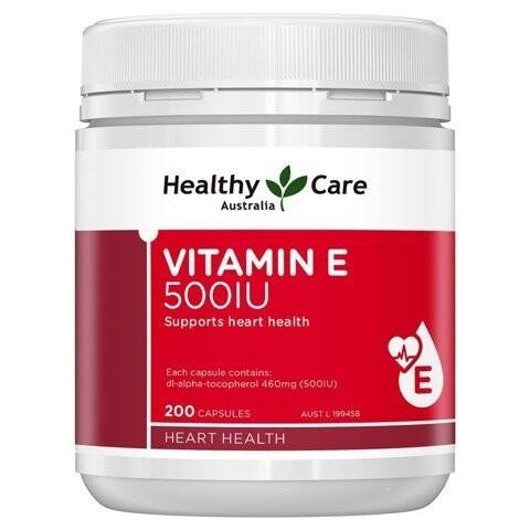 Viên uống Healthy Care Vitamin E 500 I.U