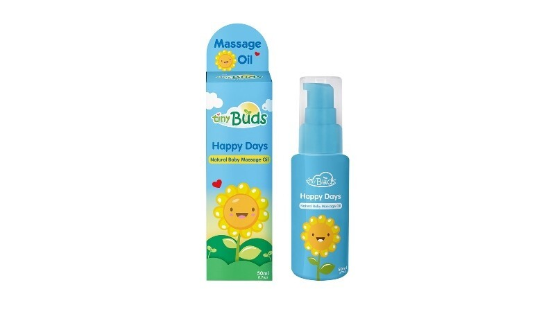TINY BUDS HAPPY DAYS NATURAL BABY MASSAGE OIL